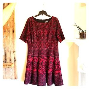 Julian Taylor Fit & Flare Dress 14